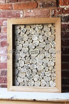 Have all your guests sign a heart that you will frame and put up in your house! Such a fun guest book idea! #weddings #wedding #marriage #weddingdress #weddinggown #ballgowns #ladies #woman #women #beautifuldress #newlyweds #proposal #shopping #engagement