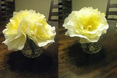 DIY Coffee filter flowers! A pretty centerpiece :)