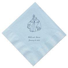 Cinderella - Pastel Blue Beverage Napkins in Foil