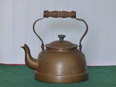 Vintage Copper Plated Tea Kettle - Made in Portugal - Clean Condition - Swing Handle - No Damages - Suitable for Use or Display - Marked - by ChicAvantGarde on Etsy $22 2/2016