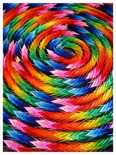 colors of crane #origami #senbazuru #paper folding