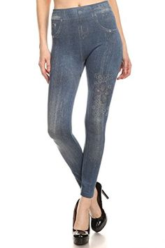 Always High Waisted Denim Jeggings - 11  Tall Skinny Pants to Choose,Stsub-1625-sbl,One Size - Regular 2-12 >>> Click image for more details. #WomensLeggings Women's Leggings, Jeggings, Skinny Pants, Jeans, Waisted Denim, Check, Image, Fashion, Moda