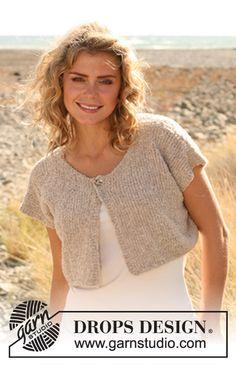 "Knitted DROPS jacket in ""Alpaca Boucle."" Size: S - XXXL. ~ DROPS Design"