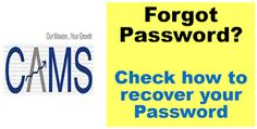 Article on how to Recover or Reset your myCAMS Login Password. Fund Accounting, Popular Articles, Social Networks, Finance, Finance Books, Economics
