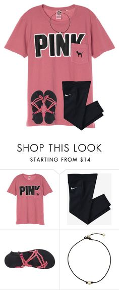 """Love the masters "" by ponyboysgirlfriend ❤ liked on Polyvore featuring Victoria's Secret, NIKE and Chaco"