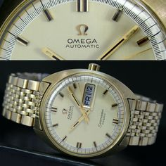 4f6777da741 1969 Vintage OMEGA Seamaster Automatic Day Date Gold Cap Steel Men Watch