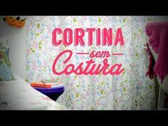 Como fazer uma cortina sem costura para o quarto   DIY - Decoração - YouTube