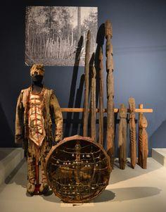 Shaman's costume and drum