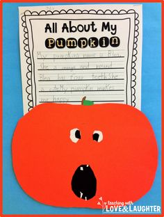 Pumpkin Writing Bulletin Board