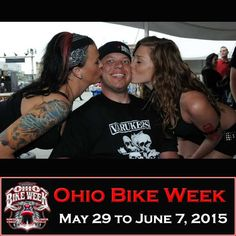 Lucky guy at the 2014 Ohio Bike Week – 2015 Dates are May 29 to June 7  **VIP TICKETS are 50% OFF until January 31st**  *MORE Ohio Bike Week pictures at http://blog.lightningcustoms.com/friends-motorcycle-pictures-id60  #ohiobikeweek #2015ohiobikeweek
