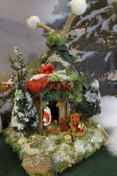 fairy house fairy christmas cottage miniature by woodlandfairyvillage 4299 miniature fairies miniature fairy
