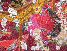 Cat Nap: Fishy Business, detail, Art Textile