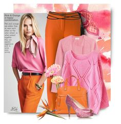 """Pink & Orange -  happy combination"" by fashion-architect-style ❤ liked on Polyvore featuring Vera Bradley, Erika Cavallini Semi-Couture, Étoile Isabel Marant and Nine West"