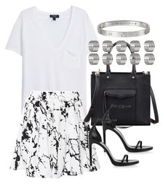 """""""Untitled #3473"""" by plainly-marie ❤ liked on Polyvore featuring MANGO, Zimmermann, Rebecca Minkoff, Yves Saint Laurent and Topshop"""