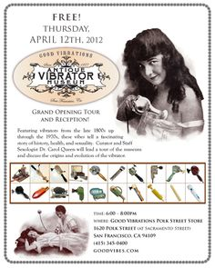 The Grand Opening of our Antique Vibrator Museum at Polk St Good Vibrations in San Francisco! April 12th  #California #Sex #Vibrators #SanFrancisco