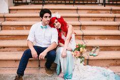 ディズニープリンセス「アリエル」の結婚式をリアルに再現した写真が話題!