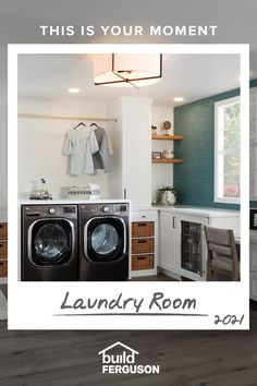 To create a space that makes laundry seem like less of a chore, start with a feature-packed washer and dryer, add loads of storage and organization, then finish with gorgeous lighting and flooring. Laundry Room Remodel, Basement Laundry, Laundry Closet, Small Laundry Rooms, Laundry Room Design, Laundry Area, Laundy Room, Laundry Room Inspiration, Up House