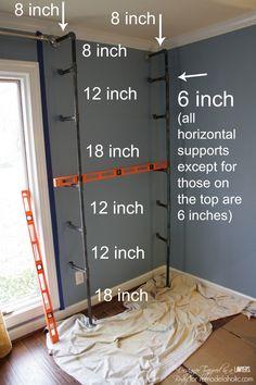 Diy Pipe Shelves, Industrial Pipe Shelves, Industrial Bedroom, Industrial House, Industrial Furniture, Pipe Shelving, Vintage Industrial, Industrial Style, Kitchen Industrial