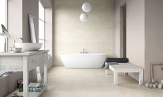 FCB_UPTOWN_SUGARHILL_AR01-920, Living room, Outdoors, Bathroom, Stone effect effect, Unglazed porcelain stoneware, wall & floor, Slip-resistance R10, R11, Semi-polished surface, Rectified edge, non-rectified edge, Shade variation V2
