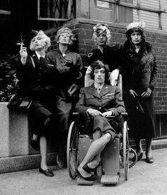 Image result for rolling stones as old women wheelchair