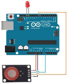 MQ-7 carbon monoxide sensor circuit