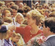 June 1992: Princess Diana's Visit to Belfast in Northern Ireland.