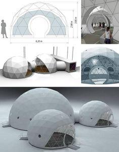 4-season geodesic dome homes.