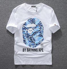 Unisex Men's Bape big Blue camo Monkey head R-neck 100% Cotton Aape T-Shirt | Clothing, Shoes & Accessories, Men's Clothing, T-Shirts | eBay!