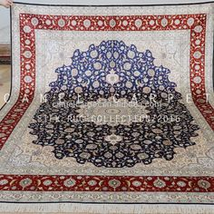 red medallion carpet real silk handmade persian design carpet