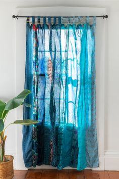 Patchwork Curtains, Silk Curtains, Panel Curtains, Hippie Curtains, Indian Curtains, Floral Curtains, Curtains Living, Kitchen Curtains, Valance
