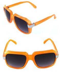 1afee84749 Details about Men s Hip Hop 80 s Vintage 607 Sunglasses Retro RUN DMC  Orange Silver Frame