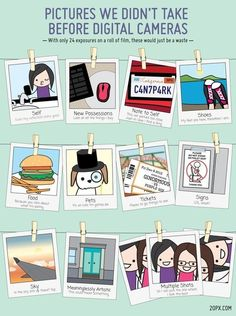 Pictures we didn't take before digital camera #infographic