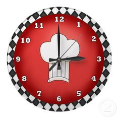 Italian Chef Hat clock