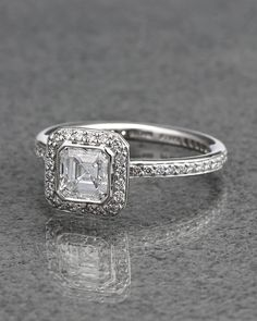 Ritani Platinum Asscher Diamond Halo Ring - explore our asscher selection http://www.ritani.com/engagement-rings/shape/asscher-cut-engagement-rings