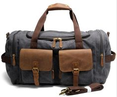 90403a629cb6c Washed Canvas Leather Travel Bag Duffle Bag Weekender Bag AF14. Bag TascheKofferTaschenCanvas  ...