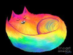 Snuggle Cat Painting