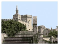 PRINTABLE ART  The Palais des Papes in Avignon France by WileyHill