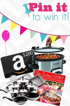 Pin It To Win It Prize Package Giveaway - Chef in Training sweepstakes sweepstakes winner Free Sweepstakes, Birthday Pins, Raisin Cookies, Recipe Box, Cool Kitchens, Sweet, Fun, Recipes, Training