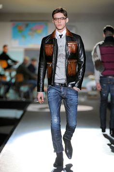 View all the looks from the Dsquared2 Autumn/Winter '12 men's catwalk show.