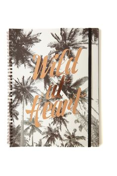 A must have for all stationery buffs! Our spinout notebooks are available in A4 and A5 with an elastic fastener to keep your notes, doodles and secret schemes contained. <br> In a range of seasonal prints and designs, these are our signature stationery essentials with a print to suit everyone. <br>  Details: <br> Measurements: 21 x 29.7 cm <br> Material: Paper inserts with wire spiral spine <br> Features: Internal pocket, Flexi hard cover, Elastic Closure. <br> 120 Lined Pages. <br/>