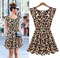 vestido  soltinho estampa leopardo