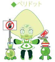 Chibi Peridot Meido by Itachi-Roxas on DeviantArt Chibi Steven Universe, Japanese Design, Itachi, Peridot, Memes, Paper Crafts, Deviantart, Cartoon, Manga