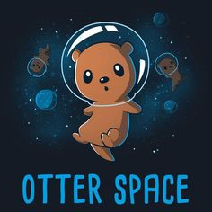 Otter Space pun t-shirt. UFO: Unidentified Flying Otter. An otter pun which is the perfect pun gift for the geek in everyone.