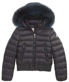 Moncler New Alberta Down Jacket with Genuine Fox Fur Trim (Little Girls    Big Girls)  8e513055a