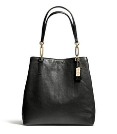 COACH MADISON NORTH/SOUTH TOTE IN LEATHER
