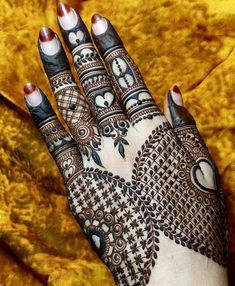 Henna Tattoo Designs Images - 100 Wedding Henna Designs on Hand for Brides. this is the best henna tattoo images collection with various pattern Wedding Henna Designs, Latest Henna Designs, Back Hand Mehndi Designs, Mehndi Design Images, Beautiful Mehndi Design, Latest Mehndi Designs, Simple Mehndi Designs, Henna Tattoo Designs, Mehandi Designs