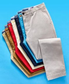 Tommy Hilfiger Men's Th Flex Stretch Custom-Fit Chino Pant, Created for Macy's - Tan/Beige Tommy Hilfiger Chinos, Foto Still, Smart Casual Menswear, Slim Fit Chinos, Clothing Photography, Marie, Casual Outfits, Mens Fashion, Pants