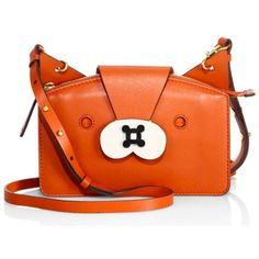 These Anya Hindmarch Animal Bags are the Cutest Novelty Designs We've... ❤ liked on Polyvore featuring bags, handbags, anya hindmarch handbags, anya hindmarch, orange hand bag, orange purse and orange handbags