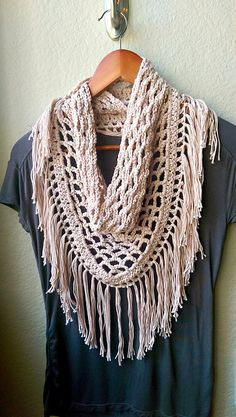 Ravelry: Crochet Fringe Scarf pattern by Michelle Greenberg