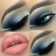Blue with Peach Lips